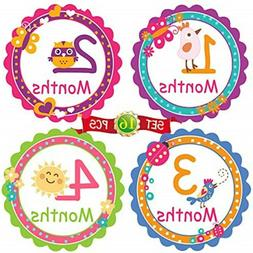 BBGM5 Baby Month by Month Stickers for Baby Girl & Boy | Uni