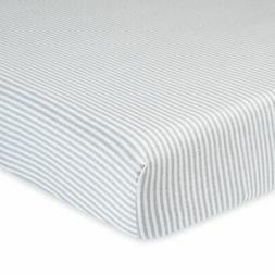 Gerber Baby Organic Cotton Fitted Striped Sheet, Bedding for
