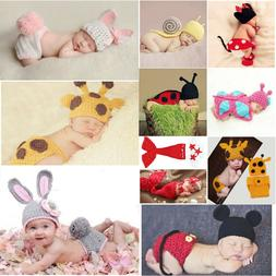 Baby Outfits For Girls Boys Newborn Knit Crochet Clothes Pho