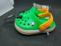 Crocs For Baby Toddler Size 4c Green Orange NEW