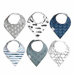 Baby Bandana Drool Bibs for Drooling and Teething 6 Pack Gif