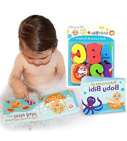 Bath Toys Set: 36-Piece Set Stick-On Foam Letters & Numbers