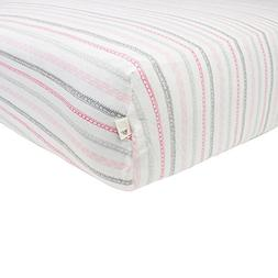 Burt's Bees Baby - Batik Stripes Fitted Crib Sheet, 100% Org