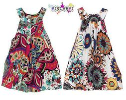 Beach Dresses Girls Bohemian Knee-length Dresses Summer Baby