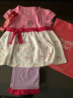 American Girl Bitty Baby Flower and Dots PJS For Girls Size