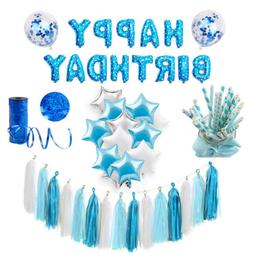 Blue Theme Party Decoration For Baby Boy Birthday Baby Showe