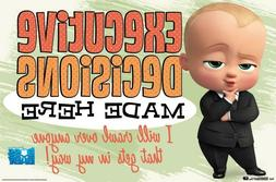BOSS BABY - EXECUTIVE DECISIONS MOVIE POSTER - 22x34 - 15165