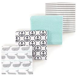 HUDSON BABY BOYS 4 PACK COTTON FLANNEL RECEIVING BLANKETS 30