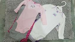 CARTER 3PCS SET FOR BABY GIRLS SIZE 6M AND 9M