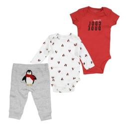 Carter's 3 Piece Penguin Cool Dude Set for Baby Boys - One-P