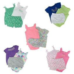 Carter's 3 Piece Set for Baby Girls - Top, Bodysuit, Shorts