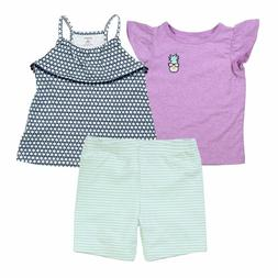 Carter's 3 Piece Violet Pineapple Set for Baby Girls T-Shirt