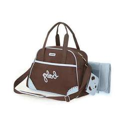 Carter's CA3008 Baby Microfiber Diaper Bag - Brown/Blue for