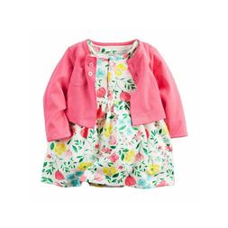 Carter's Cardigan & Dress Set for Baby Infant 3M,6M,9M,18M N