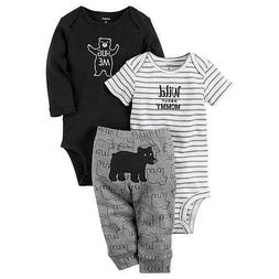 Carter's Infant Boys' 2 Bodysuits & Pants - Bear CHECK FOR S