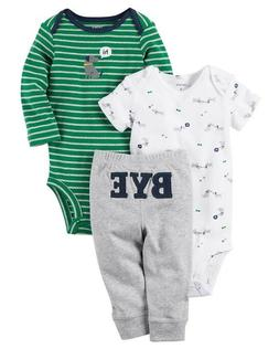 Carters Baby Boy's 3-Piece Little Character DOG HI/BYE Set C