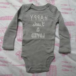 Carters Baby Gender Neutral Gray Happy Little & Loved Unisex