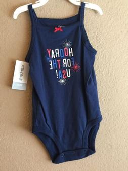 """Carters Baby Girl """"Hooray For The USA"""" Fireworks 4th of July"""