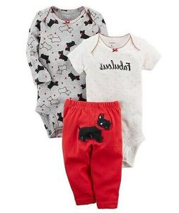 Carters Baby Girl's 3-Piece Little SCOTTIE DOG Set CHECK FOR