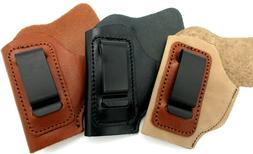 CEBECI Brown Black Tan Leather IWB AIWB Holster for BABY AUT