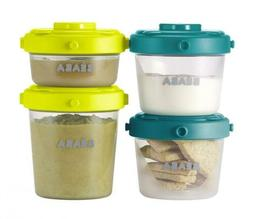 BEABA Clip Containers, Set of 6, 2oz & 4 oz for Snacks and B