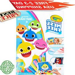 Crayola Color Wonder Baby Shark Coloring Pages,Mess Free Col