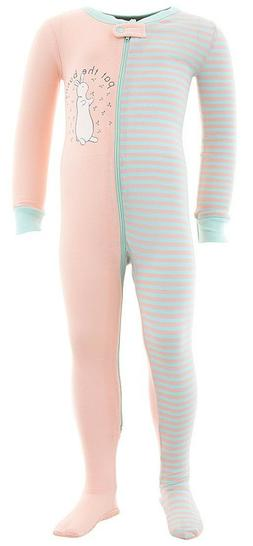 Pat The Bunny Cotton Footed Pajamas for Infant Toddler Girls