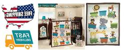 NEW Bedtime Originals 3 Piece Crib Bedding Set Choo Choo FRE