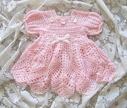 """Crochet Pattern for """"Baileigh"""" Baby Dress by REBECCA LEIGH -"""