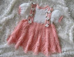 """CROCHET PATTERN for""""PEACHES & CREAM""""  Baby Dress  by REBECCA"""