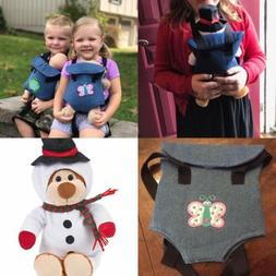 """Darling Baby Doll Carrier  18"""" Snowman Plush Bear Included"""