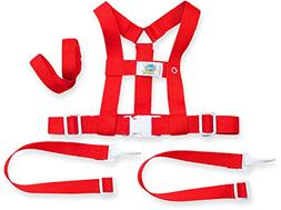Baby Buddy Deluxe Security Harness, Red