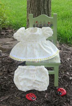 """Handmade Doll Clothes for 12"""" - 14"""" Baby Dolls - """"Sunshine"""""""