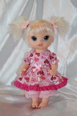Dress Outfit fits 12inch Baby Alive Doll Clothes Lot Hearts