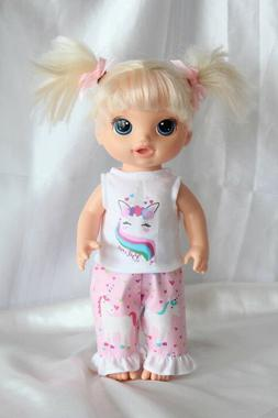 Dress Outfit fits 12inch Baby Alive Doll Clothes Unicorn Hea