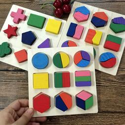 Educational Puzzle Set Wooden Geometry Wood Toy For Baby Kid