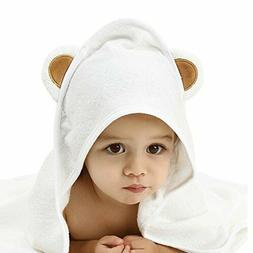 Extra Soft Bamboo Hooded Baby Blanket Towel Washcloth Set fo
