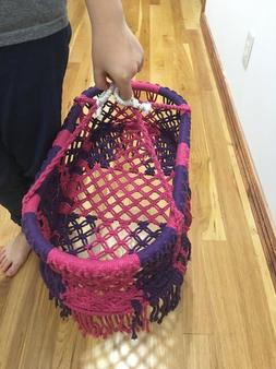 """Fits 15"""" 18"""" 19"""" Baby Doll Macrame Carrier Bitty Baby Alive"""