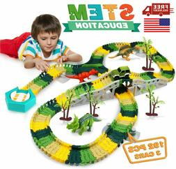 Flexible Track Toy Set 192 PCS Dinosaur Toys For Boys 4 5 6+