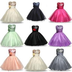 Flower Girl Princess Dress Baby Kid Party Wedding Bridesmaid
