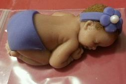 fondant baby cake topper party favor great