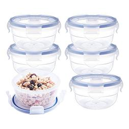 6 Pack Baby Food Storage Containers Bowls , Airtight Snap Lo