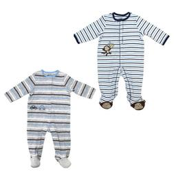Little Me Footie Pajamas for Baby Boys - One-Piece Striped F