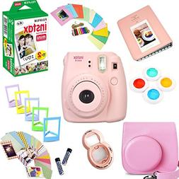 Fujifilm Instax Mini 8 Film Camera  + Instax Mini Film  + Pr