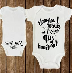 harry potter solemnly swear baby onesie personalized