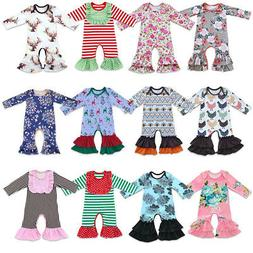 Icing Ruffle Jumpsuit Pants for Baby Toddler Girls Christmas