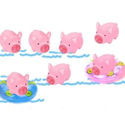 10 Pcs/Set Rubber Pig Baby Bath Toy for Kids Baby Bathroom S