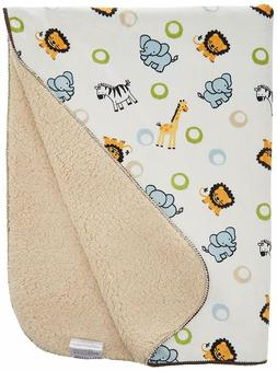 Bedtime Originals Jungle Buddies Velour Sherpa Blanket,Color