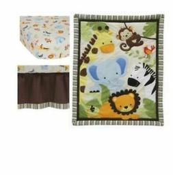 Jungle Crib Bedding Set With Fitted Sheet Bed Dust Ruffle Co