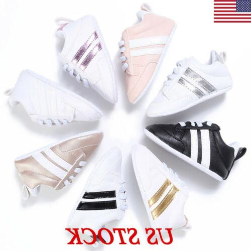 0-18M Baby Shoes Boy Girl Newborn Soft Soles Leather Crib So